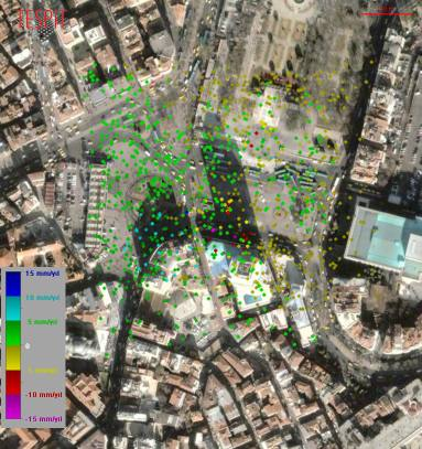 Taksim Metro Girişi Deformasyon Haritası